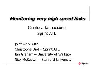 Monitoring very high speed links