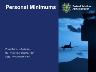 Personal Minimums