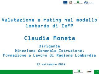 Valutazione e rating nel modello lombardo di IeFP