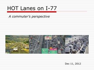 HOT Lanes on I-77