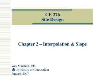 CE 276 Site Design