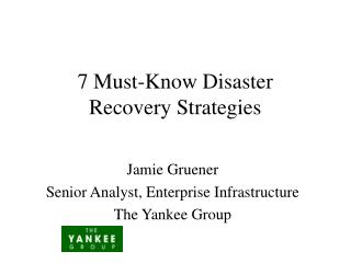 7 Must-Know Disaster Recovery Strategies
