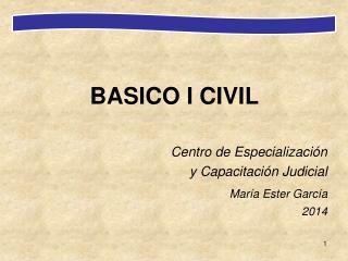 BASICO I CIVIL Centro de Especialización  y Capacitación Judicial María Ester García
