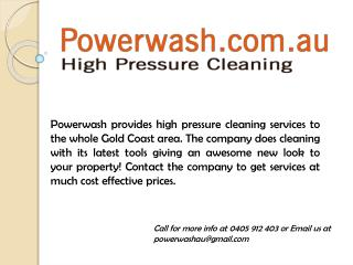 Best High Pressure Cleaning Services