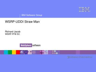 WSRP-UDDI Straw Man Richard Jacob WSRP-PFB SC