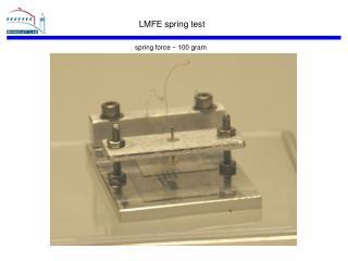 LMFE spring test