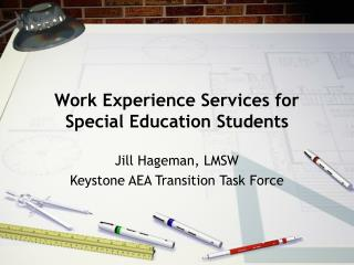 Work Experience Services for Special Education Students