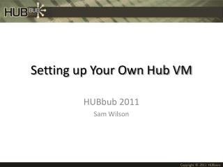 Setting up Your Own Hub VM