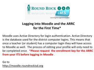 Moodle Home Screen