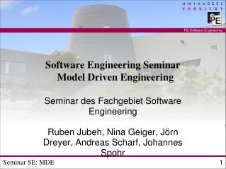 Software Engineering Seminar  Model Driven Engineering