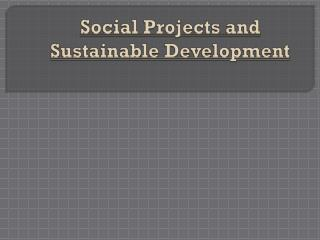 Social Projects  and  Sustainable Development