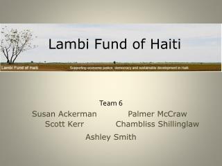 Lambi  Fund of Haiti