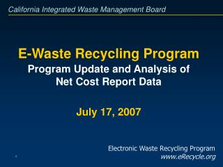 E-Waste Recycling Program