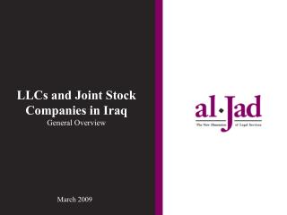 LLCs  and Joint Stock Companies in Iraq General Overview