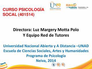 CURSO PSICOLOGÍA SOCAL (401514)