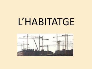 L'HABITATGE