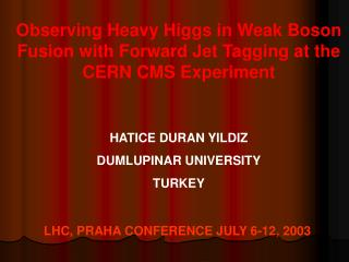 Observing Heavy Higgs in Weak Boson Fusion with Forward Jet Tagging at the  CERN CMS Experiment