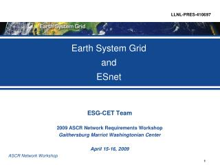 Earth System Grid  and ESnet