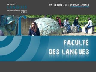 Pr. Denis Jamet Doyen de la Faculté des Langues Dr. Stéphanie Bory-Brossard Assesseur Licences LCE