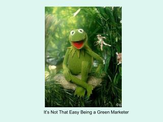 It's Not That Easy Being a Green Marketer