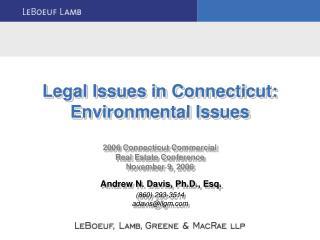 Environmental Risk Considerations