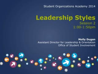 Student Organizations Academy 2014 Leadership Styles Session 2 1:00-1:50pm