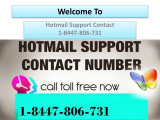 Hotmail Support Contact 1-8447-806-731
