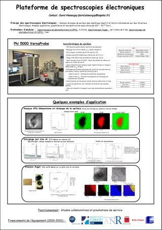 Plateforme de spectroscopies électroniques