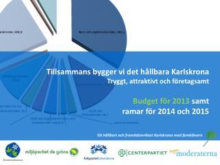Tillsammans bygger vi det hållbara Karlskrona Tryggt, attraktivt och företagsamt