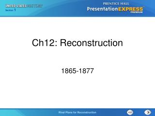 Ch12: Reconstruction