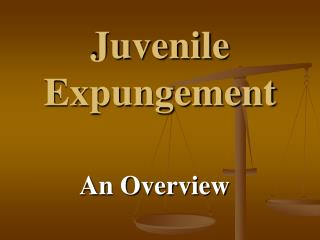 Juvenile Expungement