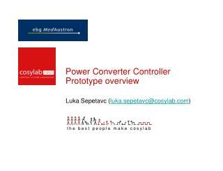 Power Converter Controller  Prototype  overview