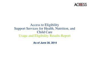 As of June 30, 2014