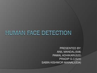 HUMAN FACE DETECTION