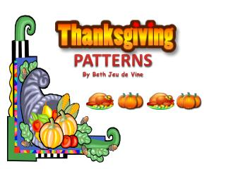 PATTERNS By Beth  Jeu  de Vine