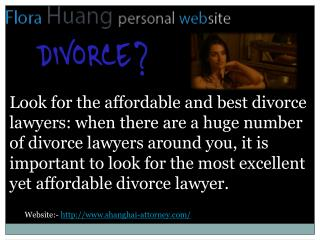 Divorce lawyer in china for all the legal procedures
