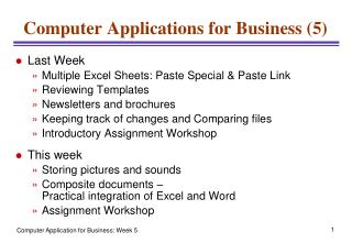 Computer Applications for Business (5)