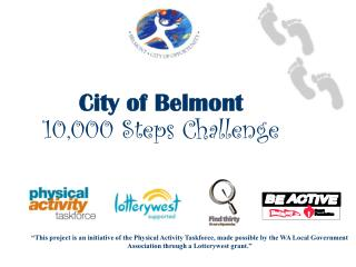 City of Belmont 10,000 Steps Challenge