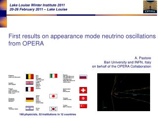First results on appearance mode neutrino oscillations  from OPERA