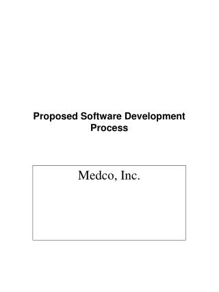 Proposed Software Development Process