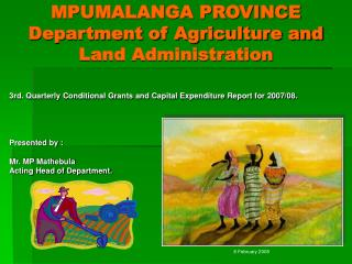 MPUMALANGA PROVINCE Department of Agriculture and Land Administration