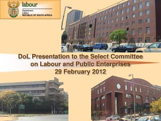 DoL Presentation to the Select Committee on Labour and Public Enterprises    29 February 2012