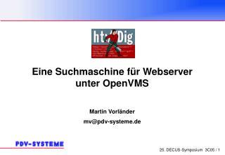 Eine Suchmaschine für Webserver  unter OpenVMS