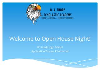 Welcome to Open House Night!