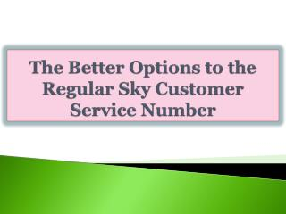 The Better Options to the Regular Sky Customer Service Numbe