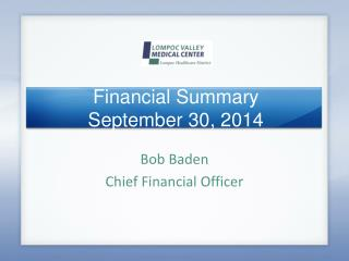 Financial Summary September 30, 2014