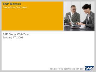 SAP Demos Procedure Overview