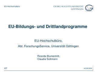 EU-Bildungs- und Drittlandprogramme