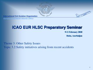 ICAO EUR HLSC Preparatory Seminar