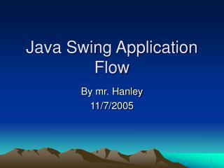 Java Swing Application Flow